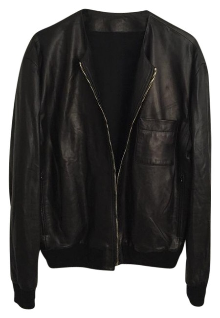 Givenchy Lambskin Bomber Saint Laurent Gucci Leather Jacket Image 1