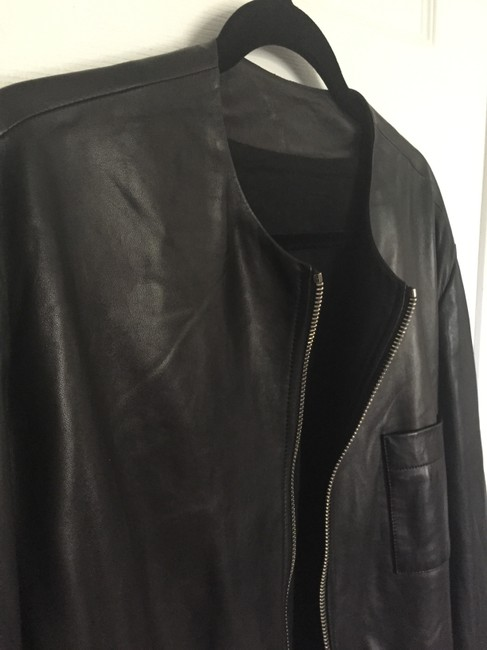 Givenchy Lambskin Bomber Saint Laurent Gucci Leather Jacket Image 3