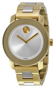 Movado Two Tone Gold Silver Stainless Steel Designer Ladies Watch