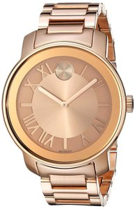 Movado ose Gold Stainless Steel Unisex Designer Casual Watch