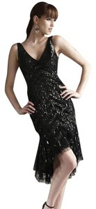 Theia Flapper Beaded Hi Lo 1920's Dress