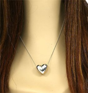 Tiffany & Co. 12735M - Tiffany & Co. sterling silver heart pendant with chain