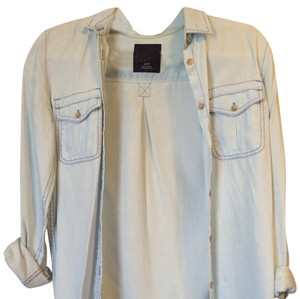 American Eagle Outfitters Button Down Shirt denim