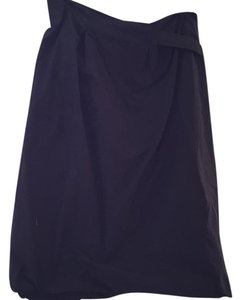 Pauw Amsterdam Sculptural Structural Modern Navy Work Skirt Black
