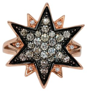 LeVian Well Known LeVian 1tcw Chocolate & White Diamond 14kt Rose Gold Ring