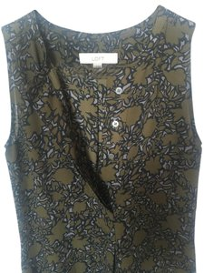 Ann Taylor LOFT Buttons Career Top OLIVE