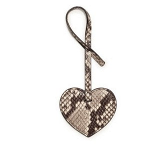 Michael Kors Michael Kors Heart Large Key Chain Embosssed python leather