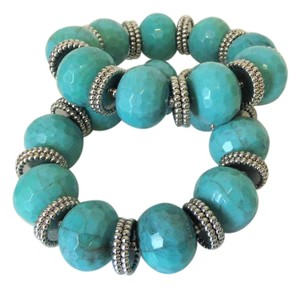R.J. Graziano R. J. Graziano Resin Simulated Turquoise Stretch Bangles