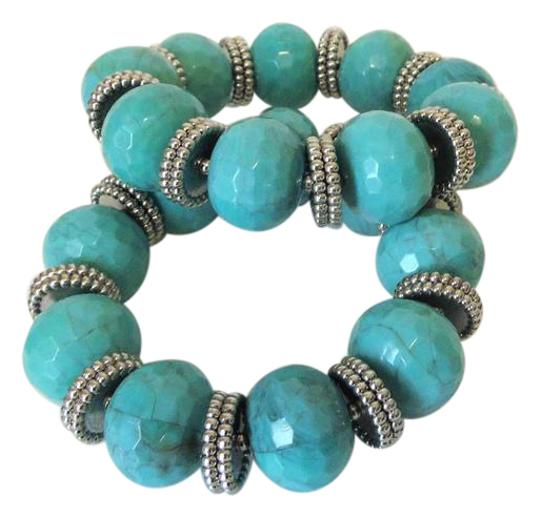 R.J. Graziano R. J. Graziano Resin Simulated Turquoise Stretch Bangles Image 0