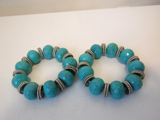 R.J. Graziano R. J. Graziano Resin Simulated Turquoise Stretch Bangles Image 2