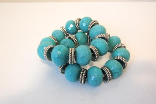 R.J. Graziano R. J. Graziano Resin Simulated Turquoise Stretch Bangles Image 3
