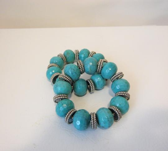 R.J. Graziano R. J. Graziano Resin Simulated Turquoise Stretch Bangles Image 5
