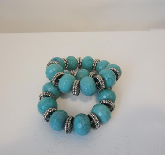 R.J. Graziano R. J. Graziano Resin Simulated Turquoise Stretch Bangles Image 9