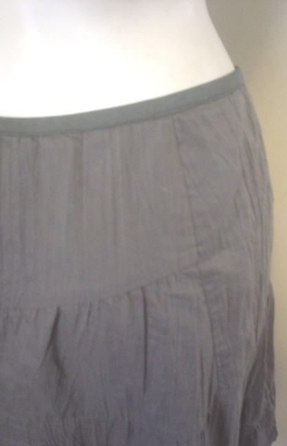 NIC+ZOE Crinkle Tiered Olive Style Skirt Green Image 3