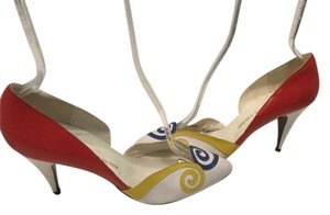 Jacques Levine Made Spain Multi color leather dorsey style Pumps