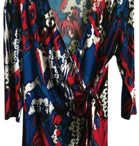 Peter Nygard Top Red, white, royal, navy