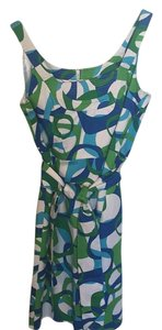 Spense short dress Blue,green, white on Tradesy