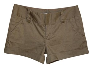 Alice + Olivia Linen Office Work Play Shorts Olive Green