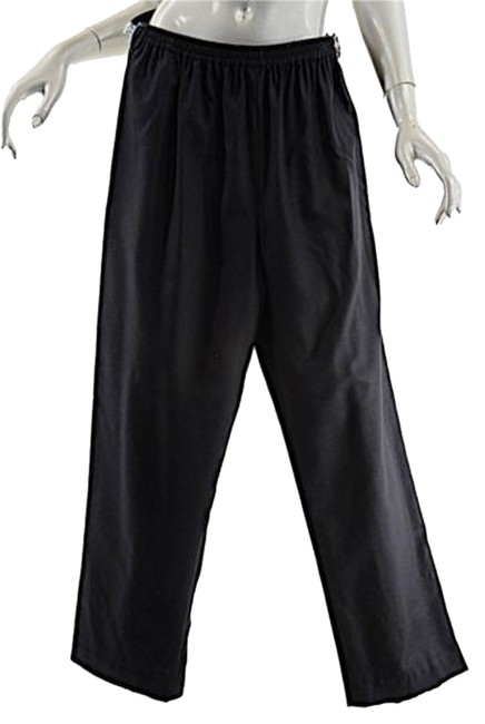 Eskandar Woolcashmere Flannel Pull Up Wpockets Relaxed Pants Black