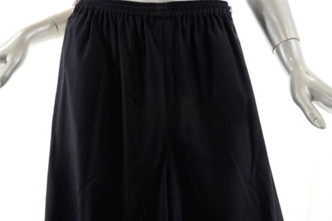 Eskandar Woolcashmere Flannel Pull Up Wpockets Relaxed Pants Black Image 1