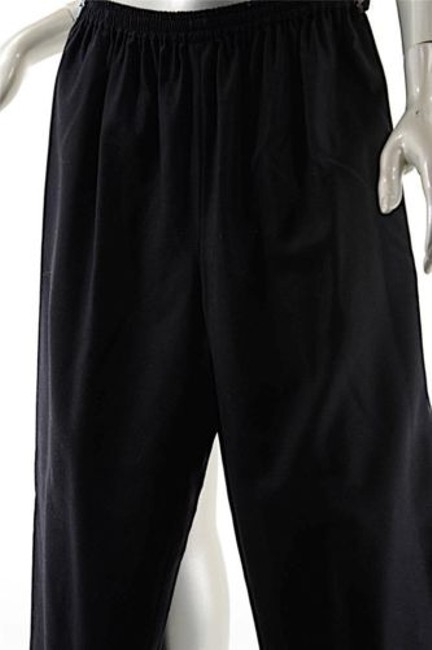 Eskandar Woolcashmere Flannel Pull Up Wpockets Relaxed Pants Black Image 4
