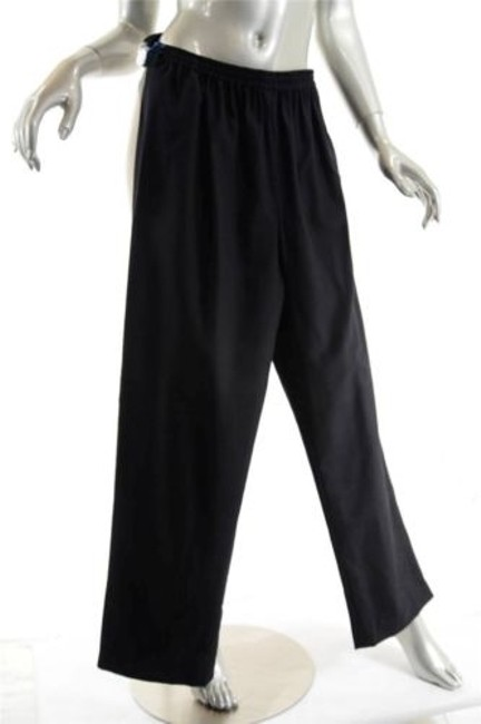 Eskandar Woolcashmere Flannel Pull Up Wpockets Relaxed Pants Black Image 5
