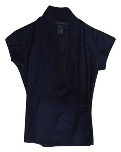 Marie Saint Pierre See-through Surplice Cropped T-shirt V-neck Top