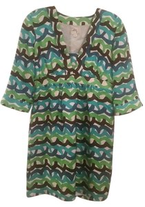MILLY short dress Multi 3/4 Sleeve Silk Date Night Night Out V-neck on Tradesy
