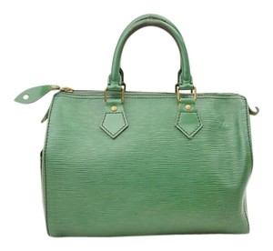Louis Vuitton Speedy 25 Satchel in green