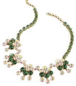 J.Crew J.Crew Spice Jade Crystal Chandelier Statement Necklace NWT $138