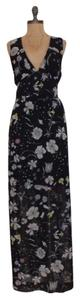 BLACK Maxi Dress by H&M Side Slits Floral Print Maxi