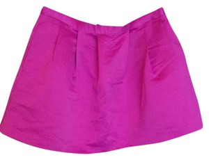 Forever 21 Tulip Bubble Hot Satin Short Mini Skirt Pink