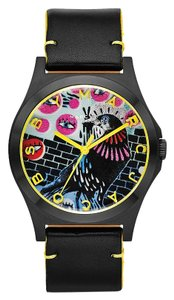 Marc by Marc Jacobs Henry Special Ed. Black Leather Bird Dial Watch