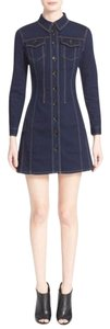 Burberry short dress blue on Tradesy