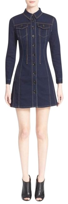 Burberry Blue Pippi Women S Denim Shirtdress Above Knee Short Casual