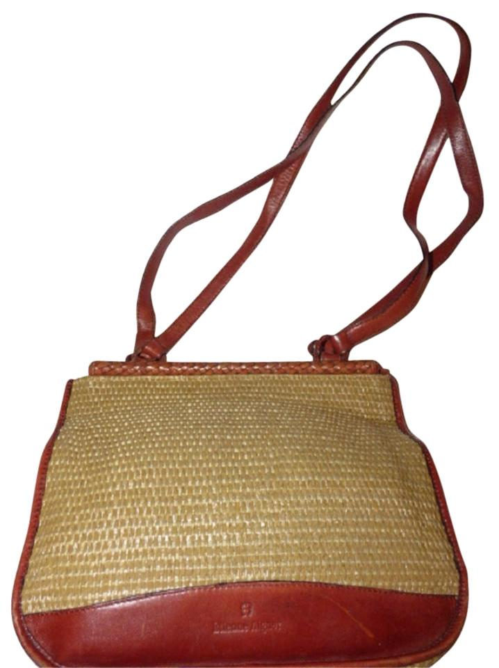 e6d883b5365f Etienne Aigner Great Everyday Rare Raffia Leather Excellent Vintage  High-end Bohemian Exterior Pocket ...