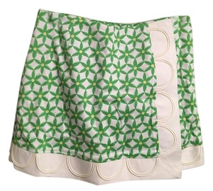 Lilly Pulitzer Print Mini Skirt Green
