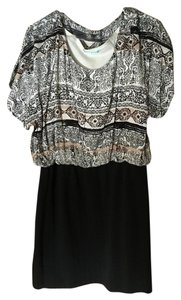 Maurices short dress Black/White/Tan on Tradesy