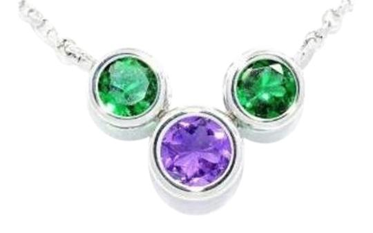 Preload https://img-static.tradesy.com/item/18530245/emerald-and-alexandrite-round-bezel-pendant-925-sterling-silver-necklace-0-1-540-540.jpg