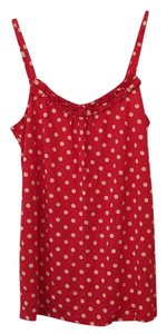 Juicy Couture Top Red with yellow polkadots