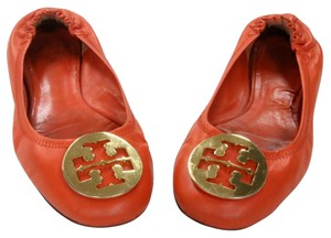 Tory Burch Miller Eddie Caroline Thora Orange Flats