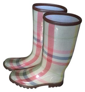 Burberry Pink, cream Boots
