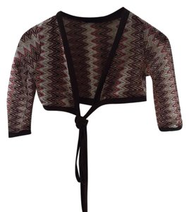Voxx New York Chevron Woven Shrug Cover-up Striped Cardigan