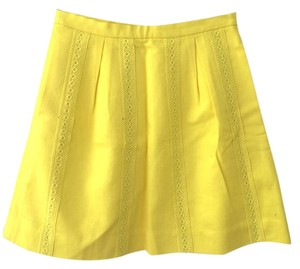 J.Crew Lace Skirt yellow