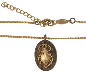 AV Max Beetle Bug Pendant Necklace AV Max Beetle Bug Gold Tone Pendant Necklace