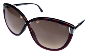 Tom Ford Large Red Silver Tom Ford Women's Sunglasses