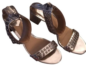 B Brian Atwood Silver Sandals