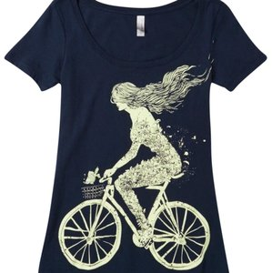 Modcloth T Shirt Navy and yellow