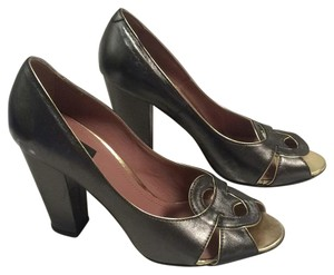 Derek Lam Metallic gunmetal Pumps