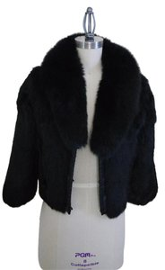 Saks Fifth Avenue Fur Black Jacket
